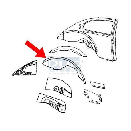 VW Beetle 1303 Cabriolet sol tôle arrière droit 73-79