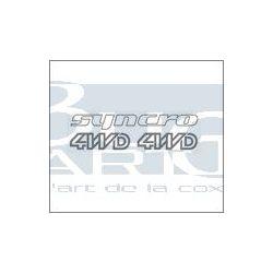 AUTOCOLLANTS SYNCRO ARGENT 3pc