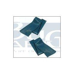 COUVRES M.PIEDS SATIN-BLUE paire