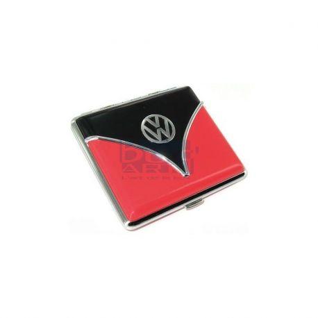 Porte cartes de visites combi noir et rouge
