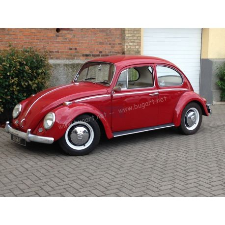 VW Coccinelle 1300 rouge rubis 1966