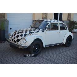 """(Vendue) VW Coccinelle 1303 berline 1974 """"à damiers"""""""