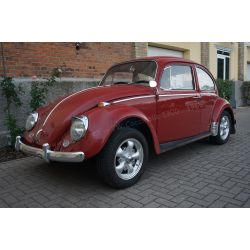 VW Coccinelle 1300 rouge rubis 1966 - pour bricoleur passionné