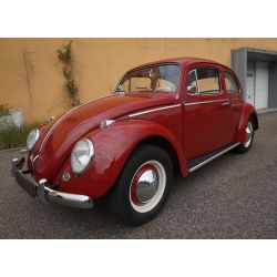 VW Coccinelle 1200 - rouge rubis - 1963